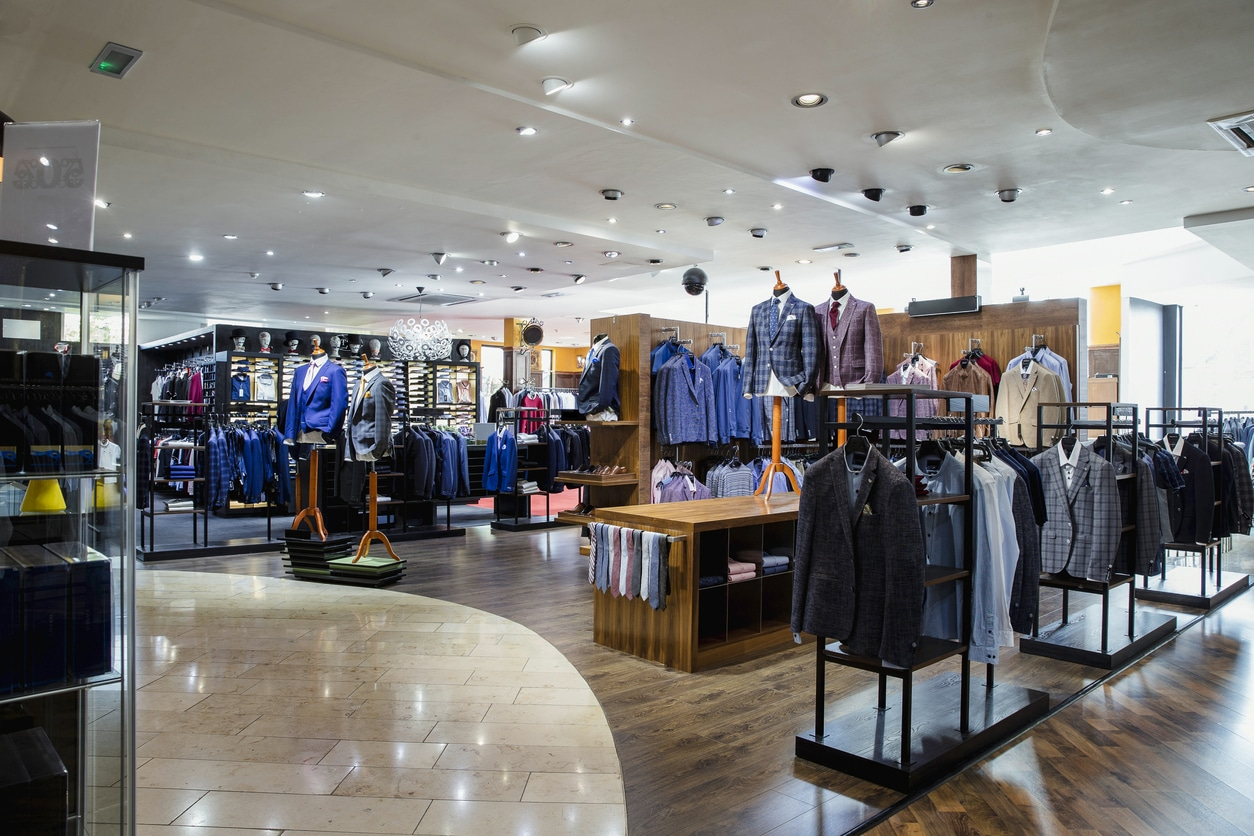 Quality men's clothing store
