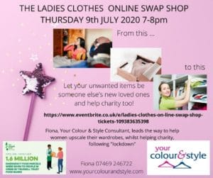 Encouraging ladies to join in an on-line clothes swap