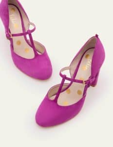 Boden pink T-bar ladies shoes