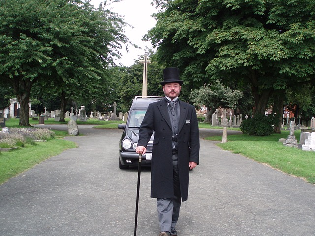 Thanks to Ian Hearse from Pixabay for this image of a funeral director